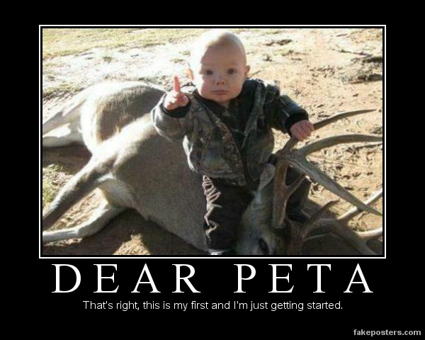 Dear Peta - Demotivational Poster